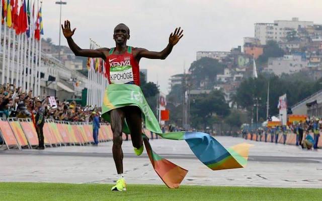 Rio 2016_Kipchoge, marathonien en or